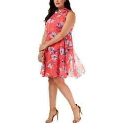 Jessica Howard Dress Pink Floral Sz 14W NEW Plus Summer Lined $29.70