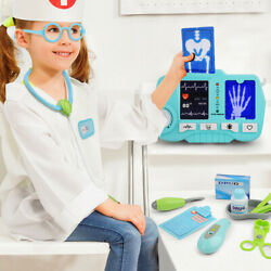 Kids Doctor Kit with Electronic Stethoscope Medical Equipment Role Pretend Play