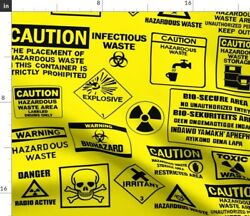 Caution Fabric Printed by Spoonflower BTY