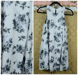 Lush SMALL S Ivory Floral Tank Top Tunic Career Blouse Nordstroms $20.00