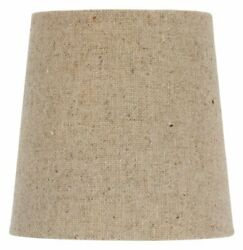 Chandelier Lamp Shade Clip on Shade 5 Inch Beige Linen Retro Drum Clips Onto Bul $9.14