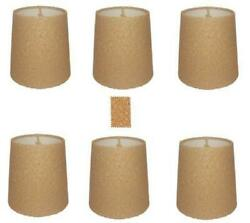 Natural Cork 5 Inch Retro Drum Chandelier Lamp Shades Set of 6 $37.95