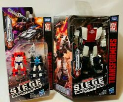 Transformers Gen SIEGE RED ALERT WFC-S35 Deluxe 5in Figure+ 2 FREE Micromasters