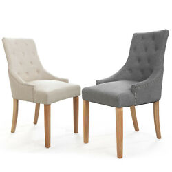 2 Colours Set of 2 Dining chairs Modern Chairs Tufted Chair Pair Chairs WBack