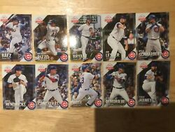 Rare 2019 Topps National Baseball Card Day CHICAGO CUBS SGA Team Set 10 Cards