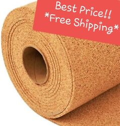 4#x27; WIDE BY THE FOOT 1 4quot; THICK ONE CORK ROLL CHOOSE SIZE bulletin board sheet $12.98