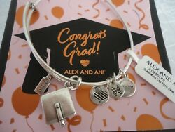ALEX AND ANI GRADUATION CAP 2019 Rafaelian Silver Bangle New WTag Card