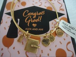 ALEX AND ANI GRADUATION CAP 2019 Rafaelian Gold Bangle New WTag Card