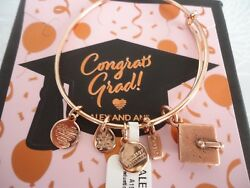 ALEX AND ANI GRADUATION CAP 2019 ROSE Charm Bangle New WTag Card