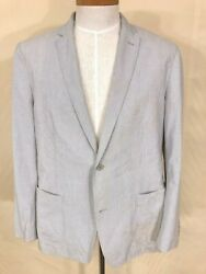 INC International Concepts Sz 44R Cotton Pinstripe Blazer Perfect Summer Weight
