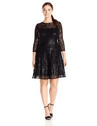 SLNY Dress Black Sequin Lace Cocktail Party 14W Plus NEW NWT $38.70