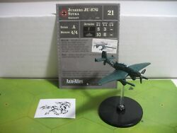 Axis & Allies Contested Skies Junkers JU 87G with card GLUED BASE 31/45 $7.00