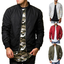 Men Casual Business Jacket Thin Autumn Baseball Outerwear Bomber Coat Fashion