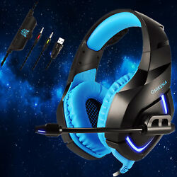 ONIKUMA K1 Stereo Gaming Headsets Headphones for PS4 New Xbox One PC with Mic