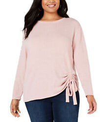 INC International Concepts Tunnel-Tie Top (Pastel Pink 2X Plus)