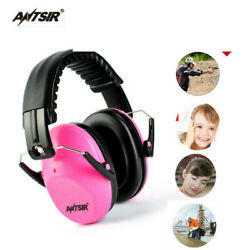 US Pink Sound Insulation Head Earmuffs Hunting Sport Ear Muffs Ears Protection