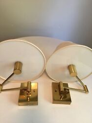 Vintage Mid Century Brass articulated sconces by Cassella lighting