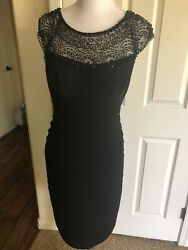 Xscape Black Cocktail dress with beading $45.00