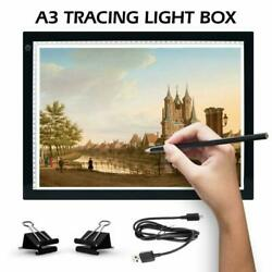 Artists Light Boxes A3 Ultra-Thin Portable Tracing LED Drawing Pad USB Power Ca