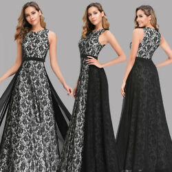 Ever pretty US Formal Lace Black Dresses Evening Cocktail Party Ball Prom Gowns $43.99