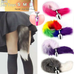 Romance Cosplay False Fox Tail With Metal Anal-Butt Plug Funny Toy Adult Game $7.49