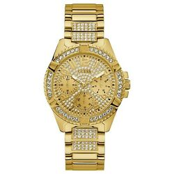 Guess Gold-Tone and Crystals Stainless Steel Women's Quartz Watch W1156L2