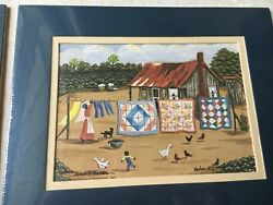 Art Print Quilts on Clothes Line by Bonnie Bess Watson Butler African American