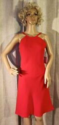 NWT CALVIN KLEIN DRESS RED A LINE TRAPEZE EVENING COCKTAIL SIZE 2 MSRP $149.00 $22.00