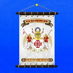 Knights of the Holy Sepulchre Flag: 5in1: Banner Sticker Pennant Postcard Magnet
