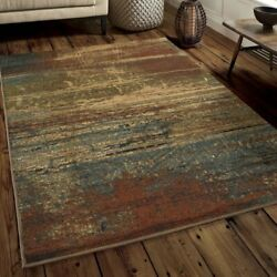 Contemporary Rustic Earth Abstract Area Rug **FREE SHIPPING** $149.00