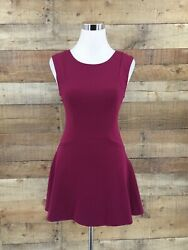 Free People Women#x27;s Fit amp; Flare Burgundy Dress Size XS $29.99