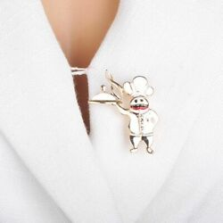 Kitchen Chef Brooch Unisex Cooker Badge Gold Color Restaurant Clothing Lapel Pin