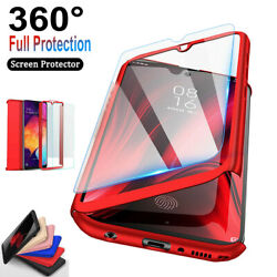 For Samsung Galaxy A10e A20 A30 A50 360°Shockproof CaseTempered Glass Protector $6.58