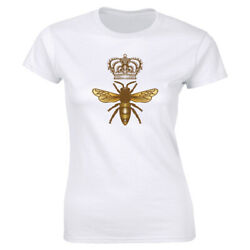 Queen Bee with Crown T Shirt for Women Funny Cute Royalty Tee $13.08