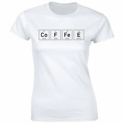Coffee Science T Shirt for Women Funny Periodic Table Of Elements Tee $13.49