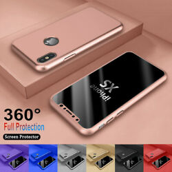 For iPhone 6 7 8 Plus XR XS Max 360° Full Protective Hard CaseScreen Protector $6.59