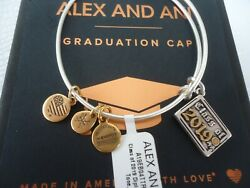 ALEX AND ANI CLASS OF 2019 DIPLOMA Two Tone Charm Bangle New WTag Card