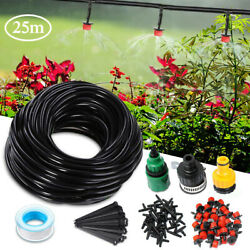 82 FT DIY Micro Drip Irrigation Kit System Hose Drippers Garden Plant Watering $15.92