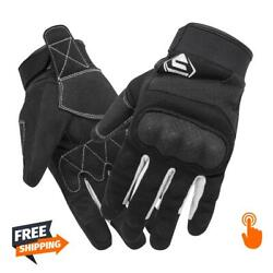 New Men#x27;s Black Motorcycle Gloves Breathable Touch Screen Non slip Motocross $13.50