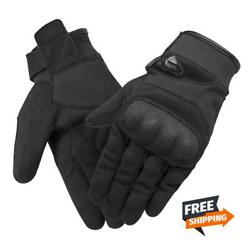 All Season Black Motorcycle Gloves Breathable Touch Screen Non slip Motocross $13.50