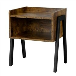 Small End Table for Small Spaces Accent Wood Nightstand Bedroom Bedside Table $48.99
