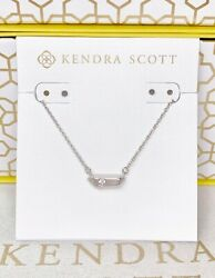 New Kendra Scott Charly Silver Pendant Necklace