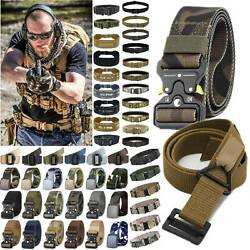 Adjustable Military Tactical Belt Mens Army Combat Waistband Rescue Rigger Belts