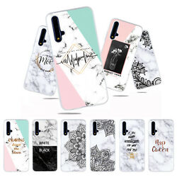 For Huawei Honor 20 9X 8S P Smart Z Marble Painted Soft Silicone TPU Case Cover