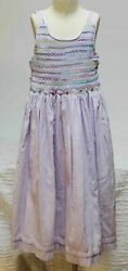 Will#x27;Beth Lavender Purple Girl Dress Sz 8 Smocked Flowers Shirred Will Beth $60.00