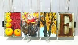 LOVE Word Art Picture Frame Fall Themed $40.00