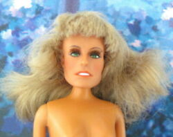 FARRAH FAWCETT DOLL w ROOTED EYELASHES - TLC - SHE SOMETIMES LOSES HER HEAD! BL