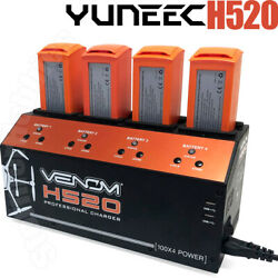 Venom Pro Yuneec H520 amp; Typhoon H 4 Port Battery Charger w Dual USB Outputs $259.95