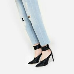 CHARLES & KEITH Black pointed-toe stiletto heels US 6.5 EU 37