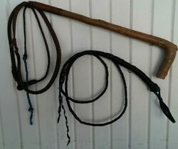 Vintage Whip Set Rustic Decor $38.00